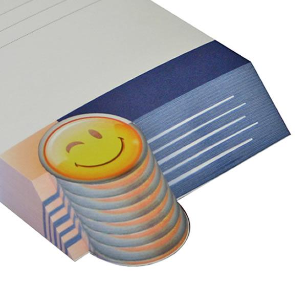 blocchetto appunti con forma di smile
