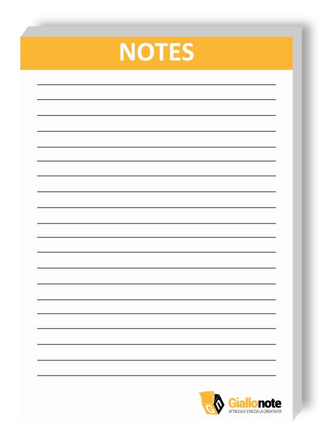 Esempio di personalizzazione Block Notes A6