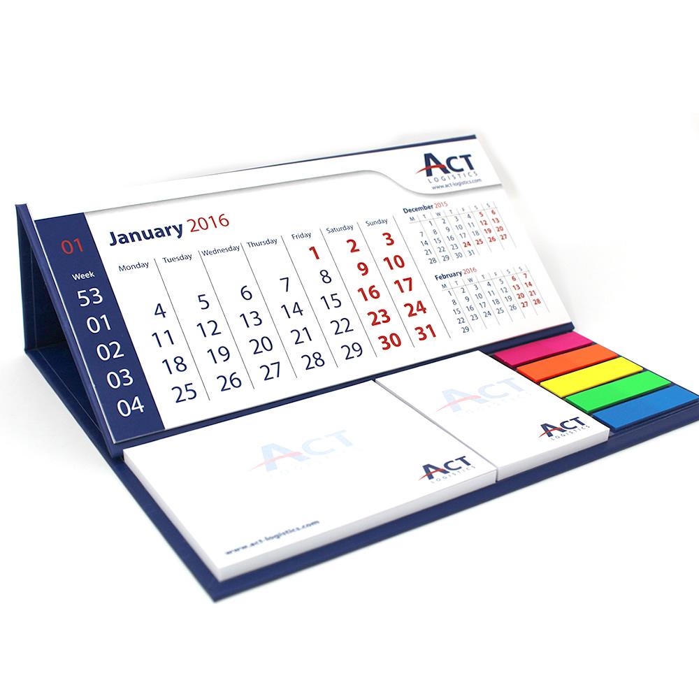 Calendario da tavolo con post it