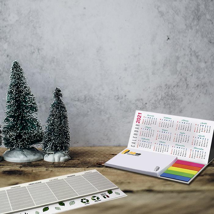 Calendario personalizzato e planner da scrivania 2021