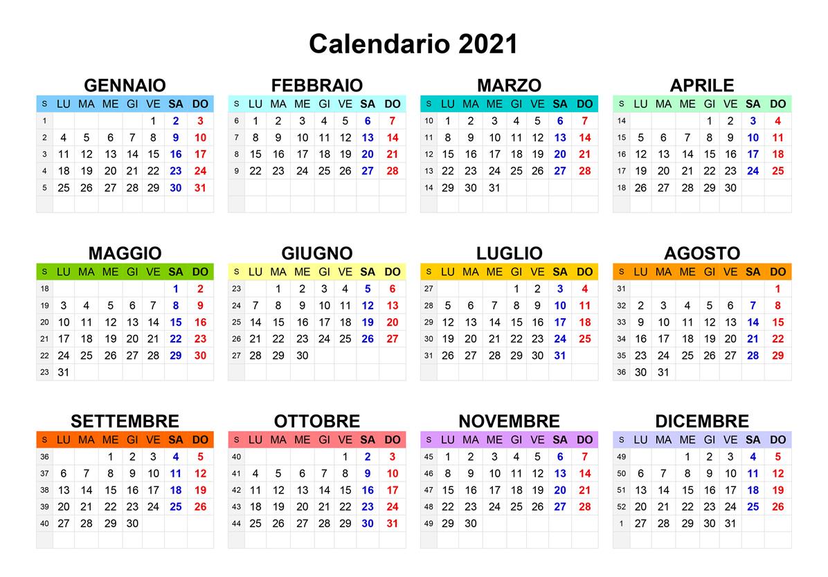 Calendario interno personalizzato