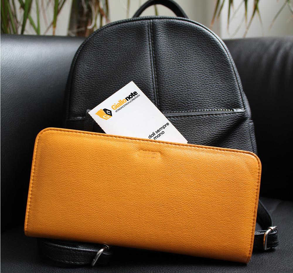 CardMemo tascabile da riporre nel borsello o nella borsa, con calendario e segnapagina
