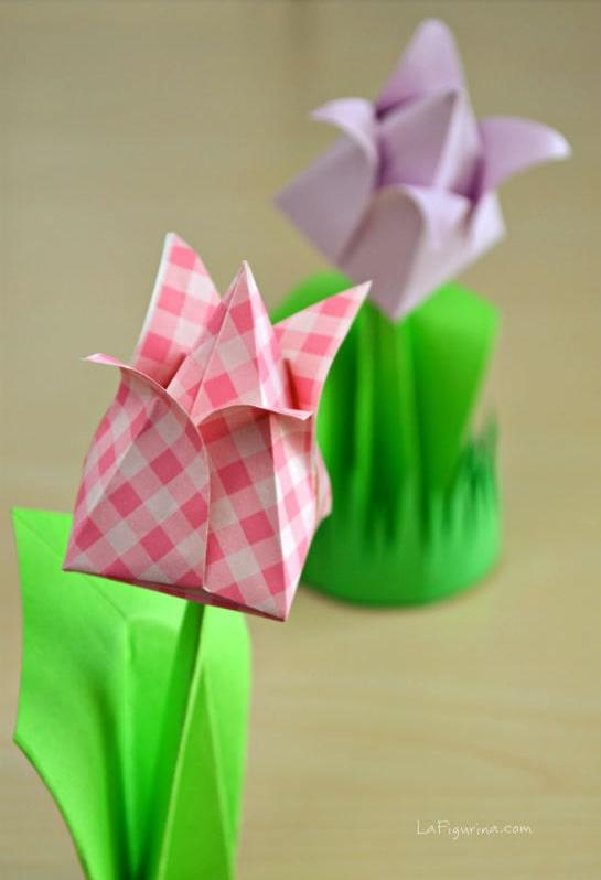 Fiori a centrotavola da origami