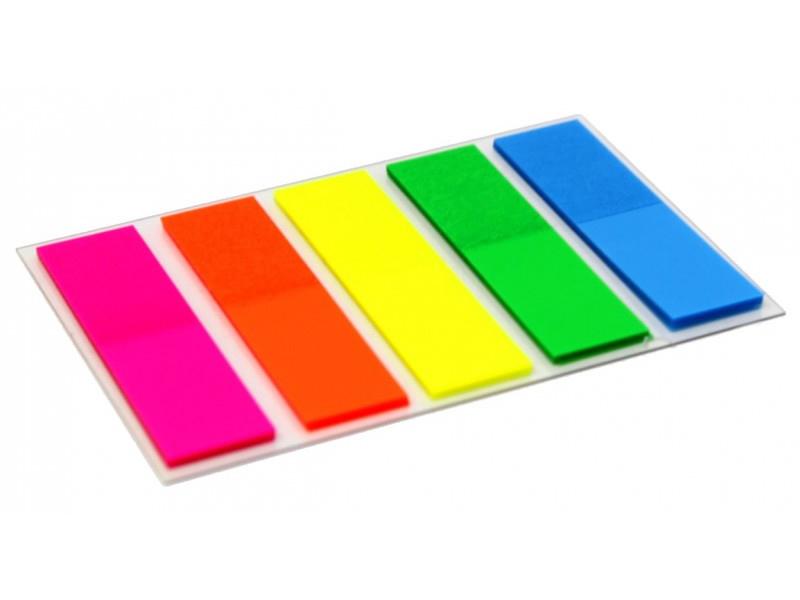 Bandierine segnapagina nei 5 colori fluo