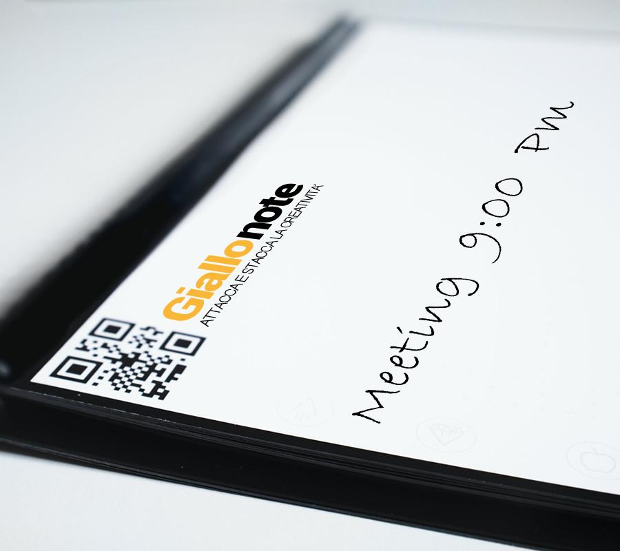 Business Pad con blocco appunti post-it, fogli riposizionabili 145x100mm, penna e copertina rigida