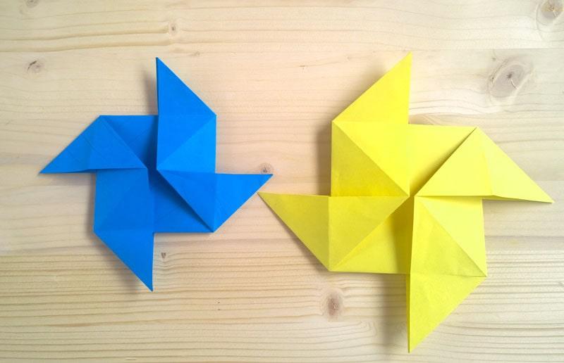 Girandole colorate Origami