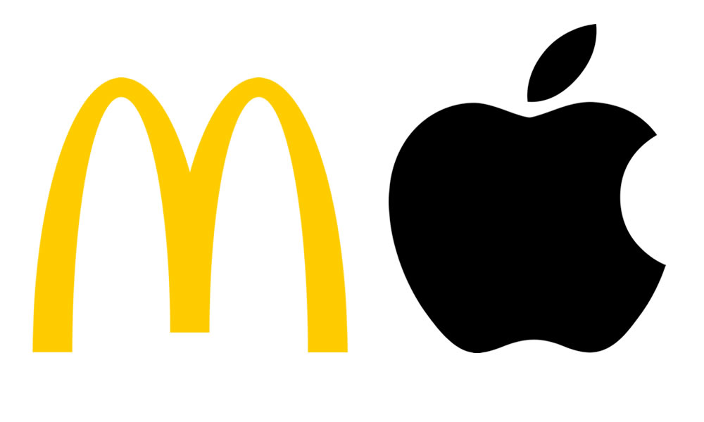 logo Mcdonalds's ed Apple