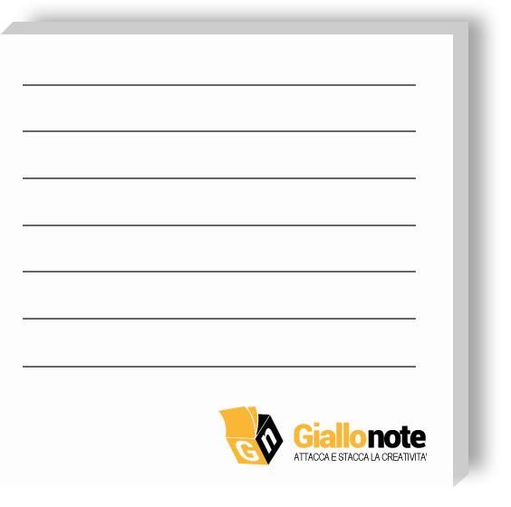 Memo personalizzati con stampa righe per appunti ordinati
