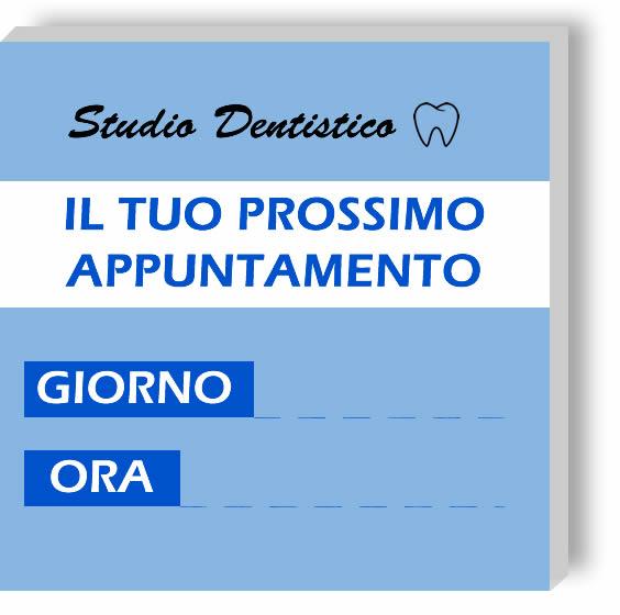 Memo personalizzati Studio Dentistico carta Blu chiaro