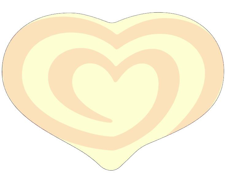 Esempio stampa logo a forma di cuore