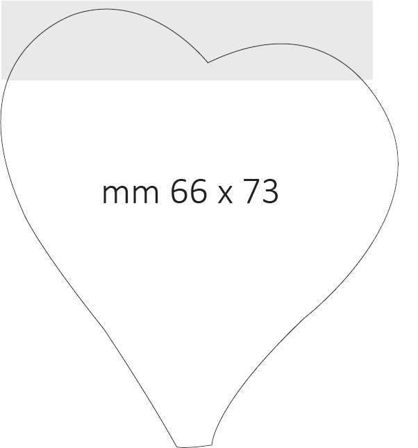 Post it sagomato 75x75mm - dimensione finale 66x73mm con punta tagliata
