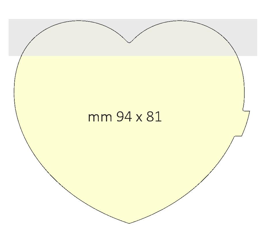 Post it a forma di cuore dimensione 94 x 81 mm