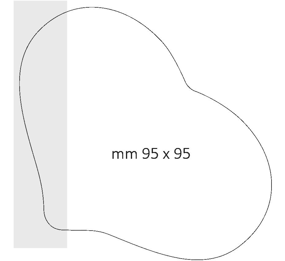 Post it a forma di cuore dimensione 95 x 95 mm