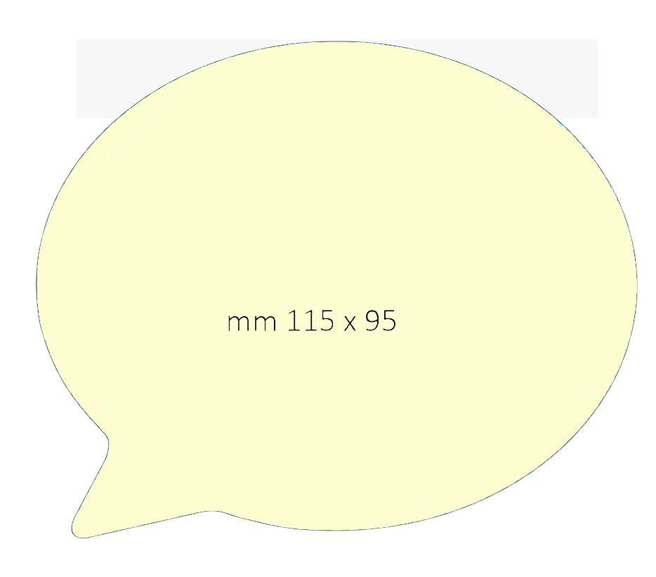 Post it sagomato fumetto 115x95mm