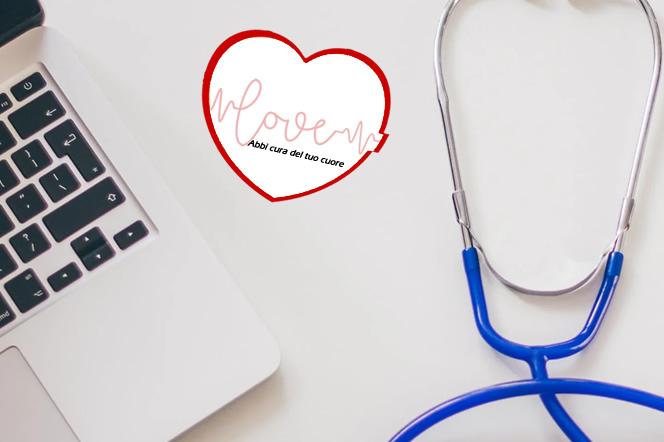 Post it per medico cardiologo a forma di cuore