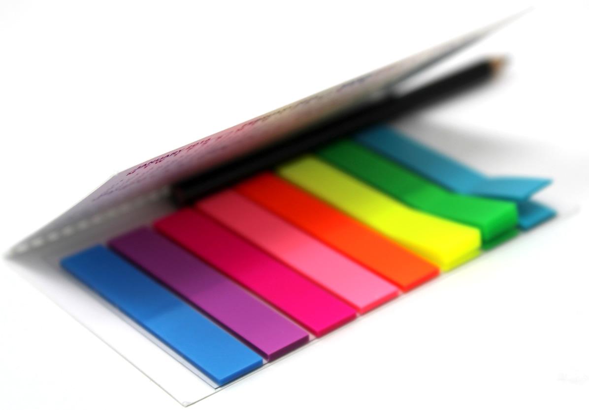 Segnapagina multicolor da 8 colori