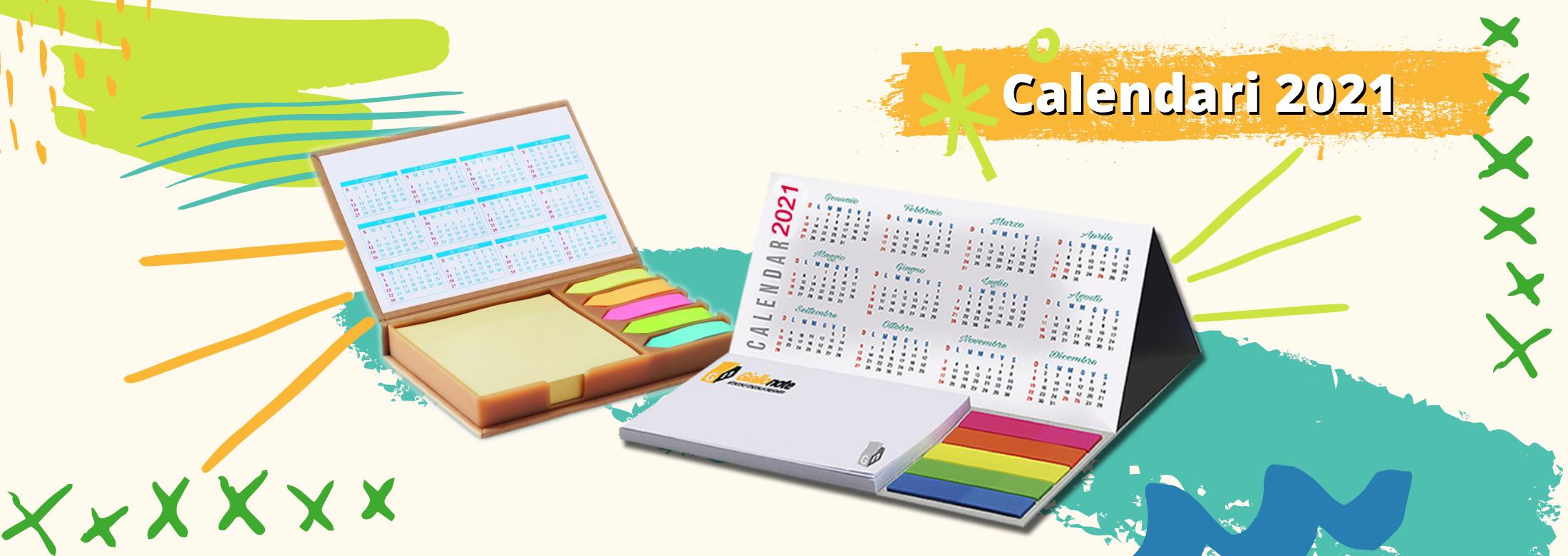 Calendari e planning 2021 Giallonote