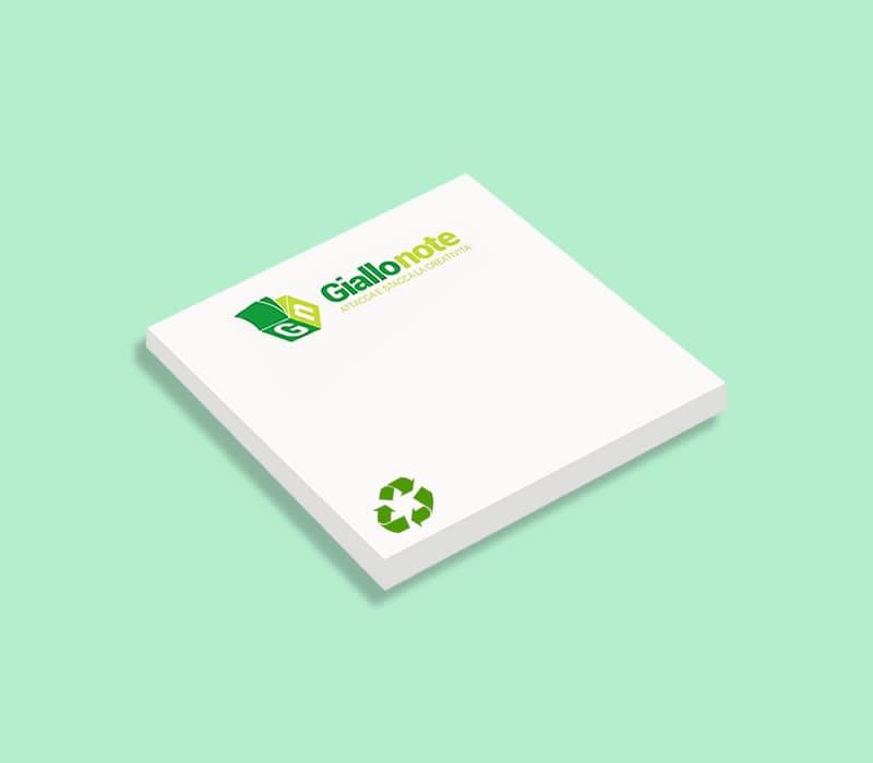 Post it in carta ecologica personalizzabili con logo o brand aziendale