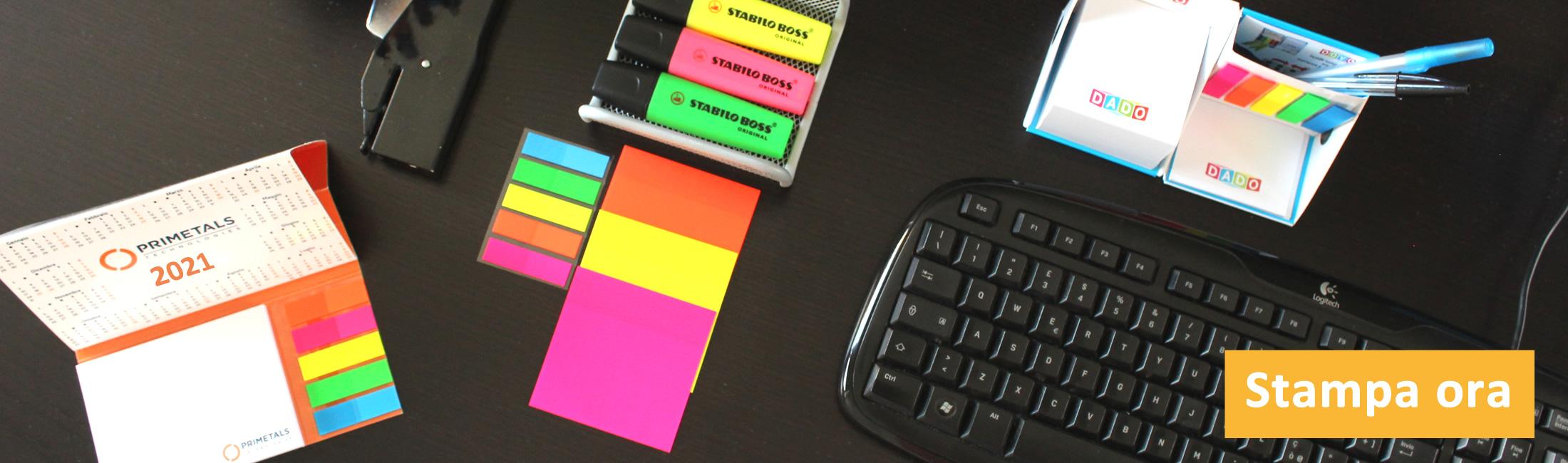 Post-it personalizzati: forme classiche, set combinati, ecologici e sagomati. Spedizione sempre gratis
