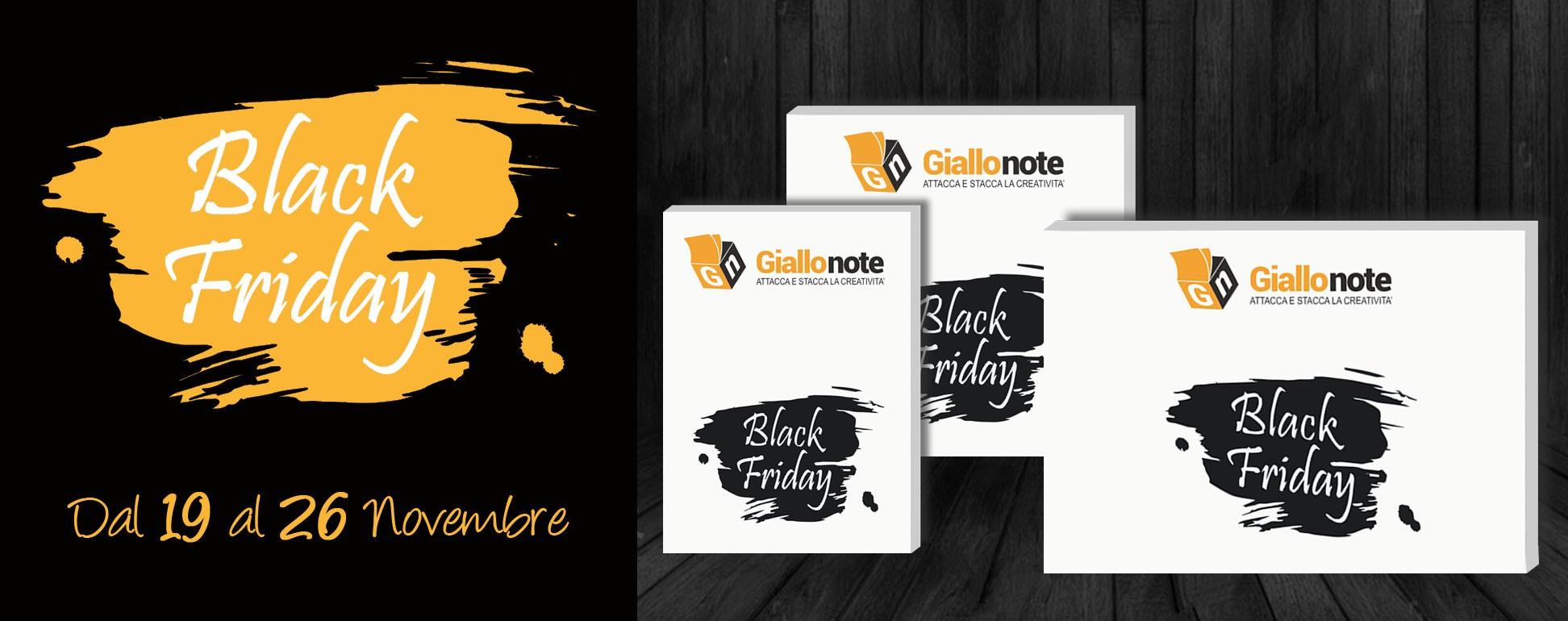 La settimana del Black Friday su Giallonote