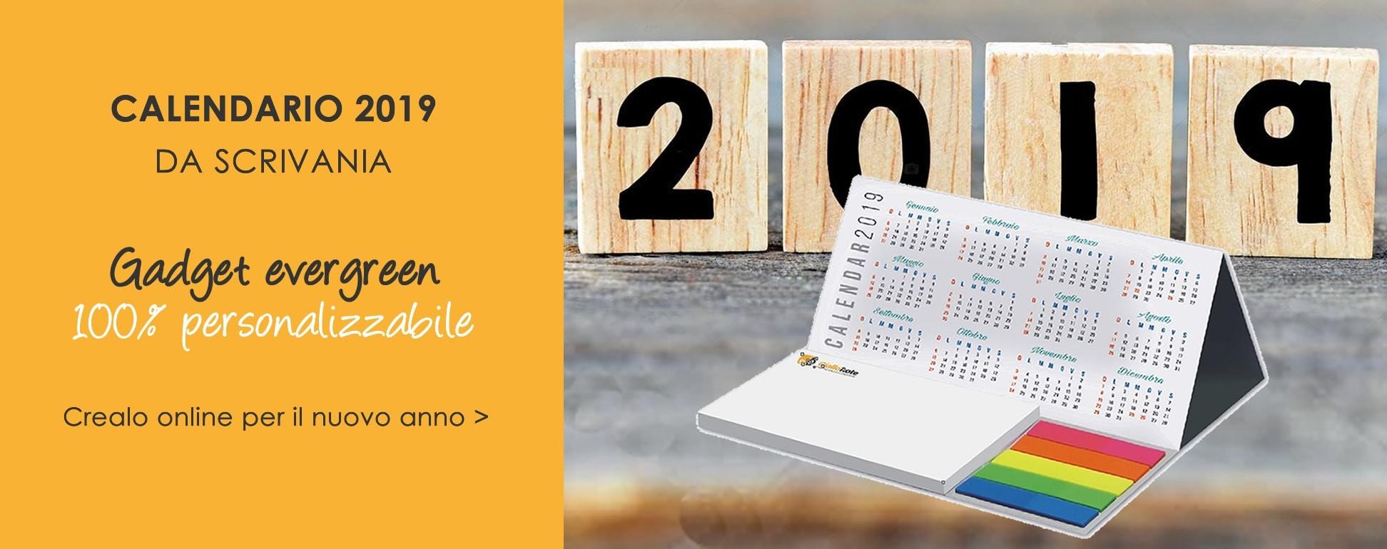 Calendario annuale personalizzato da tavolo